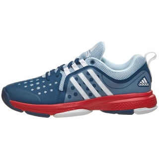 sports shoes 4fb26 ebfda Adidas Womens Barricade Classic Bounce W Tennis Shoe (BlueWhiteRed)