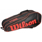 Wilson Burn Team Black 6 Pack Racquet Holder - 6 Racquet Tennis Bags