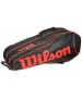 Wilson Burn Team Black 6 Pack Racquet Holder - Tennis Bag Types