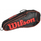 Wilson Burn Team Black Triple Racquet Holder - 6 Racquet Tennis Bags