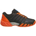 K-Swiss Junior Bigshot Light 2.5 Tennis Shoes (Black/Vibrant Orange/Electric Blue) - K-Swiss