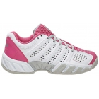 K-Swiss Junior Bigshot Light 2.5 Tennis Shoes (White/Pink/Grey) - K-Swiss