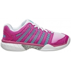K-Swiss Women's Hypercourt Express Tennis Shoes (White/Very Berry/Bachelor Button Mesh) - K-Swiss