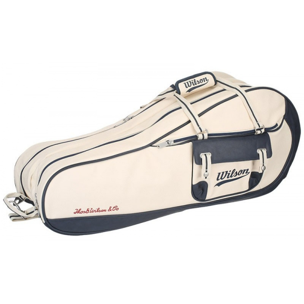 Wilson Heritage 9 Pack Tennis Bag Cream Navy