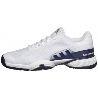 Adidas Barricade xJ Junior Tennis Shoe (White Navy Gold) - Do It Tennis e5984cc7322