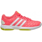 Adidas Junior Girls Barricade Club Tennis Shoes (Red/White/Yellow) - Adidas Tennis Shoes