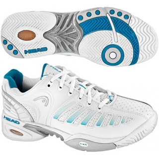 Head Women's Prestige Pro Tennis Shoes (Wht/ Blu)