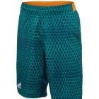 Adidas Men's Club Trend Bermuda Short (Dark Blue/Green/ Orange) - Men's Shorts Tennis Apparel