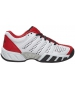 K-Swiss Junior Bigshot Light 2.5 Tennis Shoes (White/Red/Black) - K-Swiss Bigshot Tennis Shoes