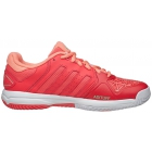 Adidas Junior Barricade Club Tennis Shoe (Shock Red/Metallic/Sun Glow) - Adidas Tennis Shoes