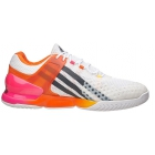 Adidas Men's adizero Ubersonic Tennis Shoes (White/ Orange/ Pink) - Adidas adiZero