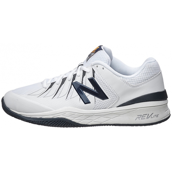 New Balance Men's MC1006 (D) Tennis Shoes (Wht/ Blk)