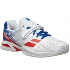 Babolat Propulse All Court Stars & Stripes Junior Tennis Shoes, Red/White/Blue - Performance Tennis Shoes