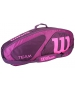 Wilson Team II Purple 3 Pack Tennis Bag (Purple/Pink) - Wilson Tennis Bags