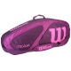 Wilson Team II Purple 3 Pack Tennis Bag (Purple/Pink) - Tennis Racquet Bags
