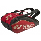 Yonex Pro Series 9-Pack Racquet Bag (Red) - 7 Racquet Tennis Bags