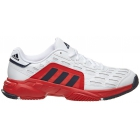 Adidas Men's Barricade Court 2 Tennis Shoe (Red/Silver/Black) - Men's Tennis Shoes