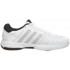 Adidas Junior Barricade Club Tennis Shoe (White/Silver/Black) - Tennis Shoes