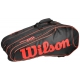 Wilson Burn Team Black 12 Pack Racquet Holder - Wilson Tennis Bags