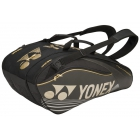 Yonex Pro Series 9-Pack Racquet Bag (Black) - 7 Racquet Tennis Bags