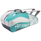 Yonex Tournament Active 6-Pack Racquet Bag (White/Aqua) - 6 Racquet Tennis Bags