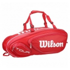 Wilson Tour V 9 Pack Tennis Bag (Red) - 7 Racquet Tennis Bags