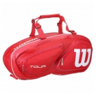 Wilson Tour V 6 Pack Tennis Bag (Red) - New Tennis Bags