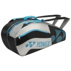 Yonex Tournament Active 6-Pack Racquet Bag (Black/Silver) - 6 Racquet Tennis Bags