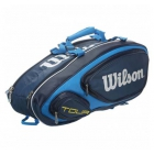 Wilson Tour V 9 Pack Tennis Bag (Blue) - 7 Racquet Tennis Bags
