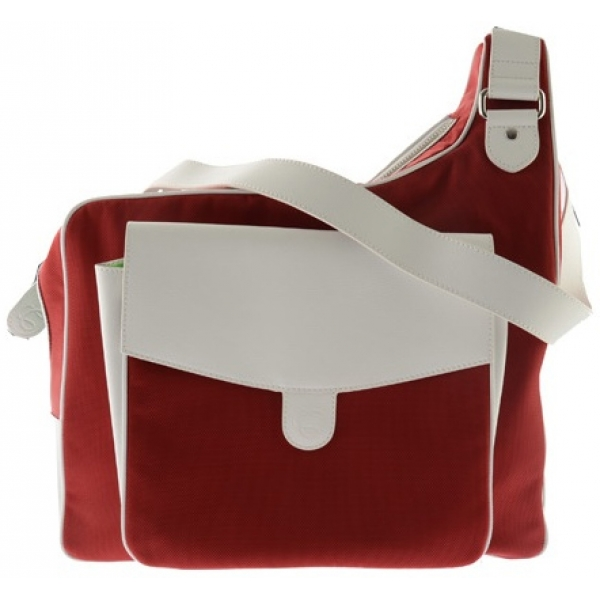 CortigliaSport Ruby Red Messenger Tennis Bag