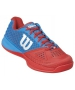 Wilson Men's Rush Pro Glide Tennis Shoes (Red/ Blue) - Wilson Tennis Shoes