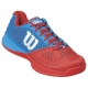 Wilson Men's Rush Pro Glide Tennis Shoes (Red/ Blue) - 6-Month Warranty Shoes