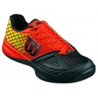 Wilson Men's Rush Pro Glide Tennis Shoes (Black/Red/Lime) - Performance Tennis Shoes