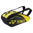 Yonex Pro Series 6-Pack Racquet Bag (Black/Lime) - MAP Products