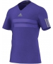 Adidas Men's Barricade ClimaCool Chill Tee (Purple) - Men's Tops T-Shirts & Crew Necks Tennis Apparel