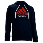Adidas Men's Logo Tennis Hoodie (Navy) - Men's Outerwear Tennis Apparel