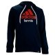 Adidas Men's Logo Tennis Hoodie (Navy) - Men's Outerwear Jackets Tennis Apparel