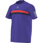 Adidas Men's Barricade Tee (Purple/ Grey/ Red) - Adidas