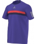 Adidas Men's Barricade Tee (Purple/ Grey/ Red) - Men's Tops T-Shirts & Crew Necks Tennis Apparel