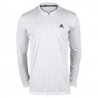 Adidas Men's Essex Long Sleeve Tee (White) - Adidas Men's Apparel Tennis Apparel