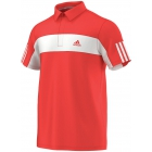 Adidas Men's Galaxy Polo (Red/ White) - Men's Polo Shirts