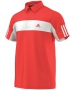 Adidas Men's Galaxy Polo (Red/ White) - Men's Tennis Apparel