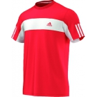 Adidas Men's Galaxy Crew Tee (Red/ White) - Tennis Apparel