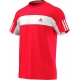 Adidas Men's Galaxy Crew Tee (Red/ White) - New Style Tennis Apparel