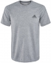Adidas Men's Ultimate Tee (Heather Grey) - New Style Tennis Apparel