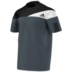 Adidas Men's Response Heathered Crew (Grey/ White) - Adidas Men's Apparel Tennis Apparel