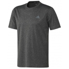 Adidas Men's Ultimate Tee (Heather Grey) - Adidas Men's Tennis Apparel