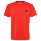 Adidas Men's Ultimate SS Crew Tee (Solar Red) - Adidas Tennis Apparel