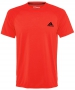 Adidas Men's Ultimate SS Crew Tee (Solar Red) - New Style Tennis Apparel