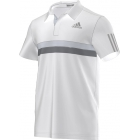 Adidas Men's Barricade Polo (White/ Grey) - Men's Tops T-Shirts & Crew Necks Tennis Apparel